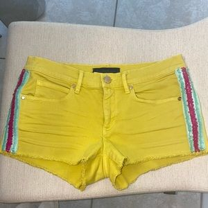 Yellow Pink Blue Sequins Juicy Couture Shorts